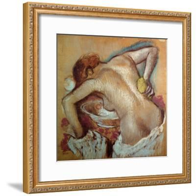 Woman at Her Toilet, C.1894 (Pastel)-Edgar Degas-Framed Giclee Print