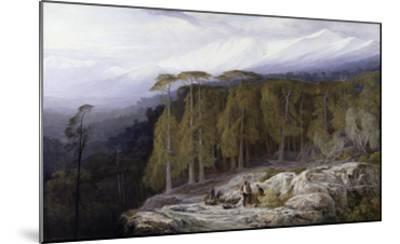 The Forest of Valdoniello, Corsica, 1869-Edward Lear-Mounted Giclee Print