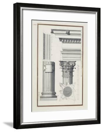 Details of a Composite Order, C.1750 (Brown and Black Ink and Wash over Graphite on Laid Paper)-Giovanni Battista Borra-Framed Giclee Print