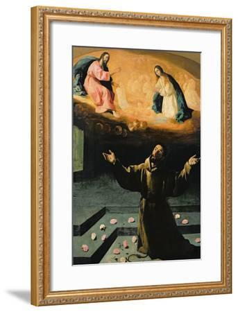 St. Francis of Assisi, or the Miracle of the Roses, 1630-Francisco de Zurbar?n-Framed Giclee Print