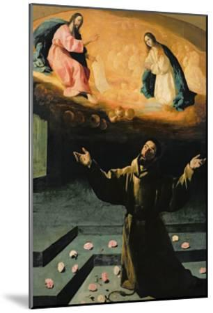St. Francis of Assisi, or the Miracle of the Roses, 1630-Francisco de Zurbar?n-Mounted Giclee Print