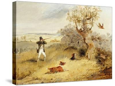 Pheasant Shooting-Henry Thomas Alken-Stretched Canvas Print