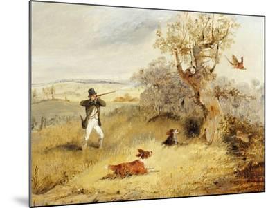 Pheasant Shooting-Henry Thomas Alken-Mounted Giclee Print
