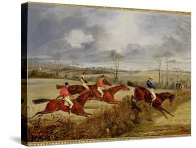 A Steeplechase, Near the Finish-Henry Thomas Alken-Stretched Canvas Print