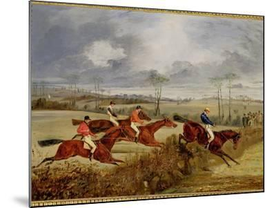 A Steeplechase, Near the Finish-Henry Thomas Alken-Mounted Giclee Print