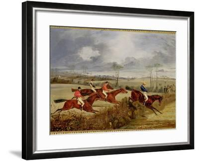 A Steeplechase, Near the Finish-Henry Thomas Alken-Framed Giclee Print