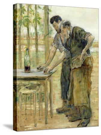 The Blacksmiths-Jean Francois Raffaelli-Stretched Canvas Print