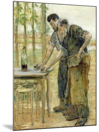 The Blacksmiths-Jean Francois Raffaelli-Mounted Giclee Print