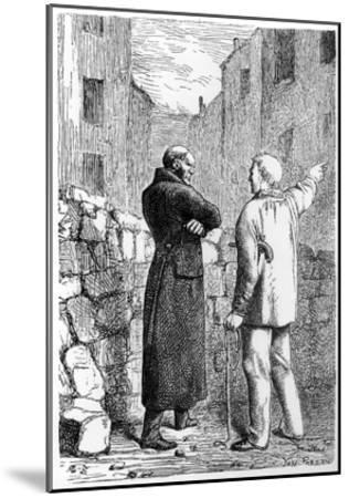 Jean Valjean Gets His Revenge, Illustration from 'Les Miserables' by Victor Hugo (1802-85)-Gustave Brion-Mounted Giclee Print