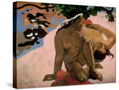 Aha Oe Feii? (Are You Jealous?), 1892-Paul Gauguin-Stretched Canvas Print
