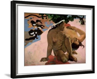 Aha Oe Feii? (Are You Jealous?), 1892-Paul Gauguin-Framed Giclee Print