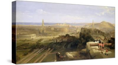 Edinburgh from the Castle, 1847-David Roberts-Stretched Canvas Print