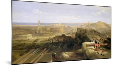 Edinburgh from the Castle, 1847-David Roberts-Mounted Giclee Print