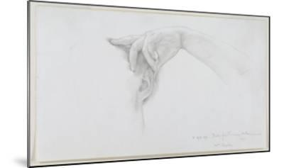 Study for 'Thermaie Antoniniane', 1899 (Pencil on Paper)-Sir Lawrence Alma-Tadema-Mounted Giclee Print