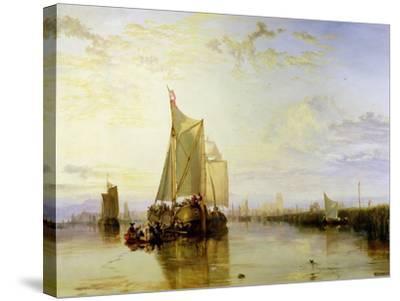 Dort or Dordrecht: the Dort Packet-Boat from Rotterdam Becalmed, 1817-18-J^ M^ W^ Turner-Stretched Canvas Print