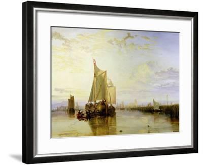 Dort or Dordrecht: the Dort Packet-Boat from Rotterdam Becalmed, 1817-18-J^ M^ W^ Turner-Framed Giclee Print