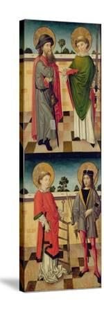 Top: St. Jacob as a Pilgrim and St. Matthew Holding a Book and a Sword- Master of the Luneburg Footwashers-Stretched Canvas Print