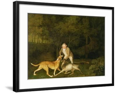 Freeman, the Earl of Clarendon's Gamekeeper, with a Dying Doe and Hound, 1800-George Stubbs-Framed Giclee Print