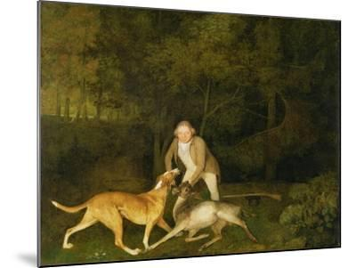 Freeman, the Earl of Clarendon's Gamekeeper, with a Dying Doe and Hound, 1800-George Stubbs-Mounted Giclee Print