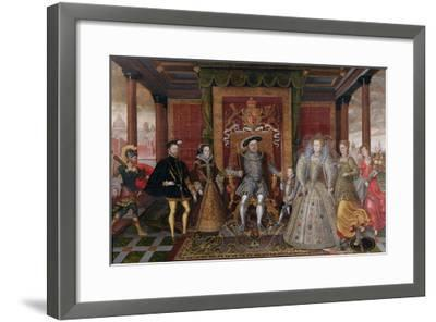 An Allegory of the Tudor Succession: the Family of Henry Viii, C.1589-95 (Oil on Panel)-English-Framed Giclee Print