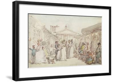 Covent Garden Market, C.1795-1810 (Pen and Ink, W/C and Pencil on Wove Paper)-Thomas Rowlandson-Framed Giclee Print