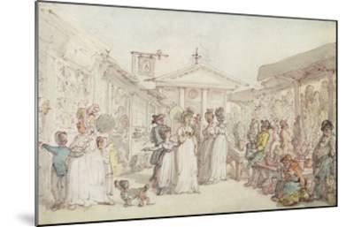 Covent Garden Market, C.1795-1810 (Pen and Ink, W/C and Pencil on Wove Paper)-Thomas Rowlandson-Mounted Giclee Print
