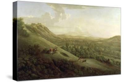 A View of Boxhill, Surrey, with Dorking in the Distance, 1733-George Lambert-Stretched Canvas Print