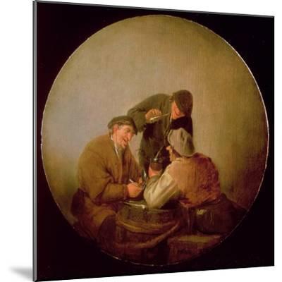 Three Peasants Drinking and Smoking in an Interior-Adriaen Jansz^ Van Ostade-Mounted Giclee Print