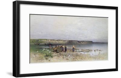 Lake Balaton with the Shore of Akarattya, 1885-Geza Meszoly-Framed Giclee Print