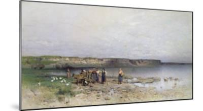 Lake Balaton with the Shore of Akarattya, 1885-Geza Meszoly-Mounted Giclee Print