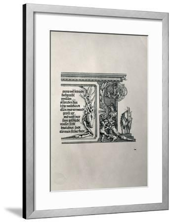 The Triumphal Arch of Emperor Maximilian I of Germany (1459-1519): Detail of a Deer-Skin-Albrecht D?rer-Framed Giclee Print