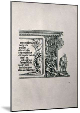 The Triumphal Arch of Emperor Maximilian I of Germany (1459-1519): Detail of a Deer-Skin-Albrecht D?rer-Mounted Giclee Print