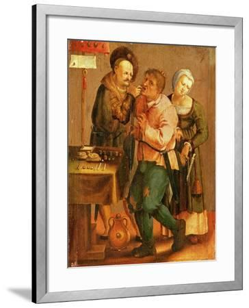 Tooth Extraction-Lucas van Leyden-Framed Giclee Print