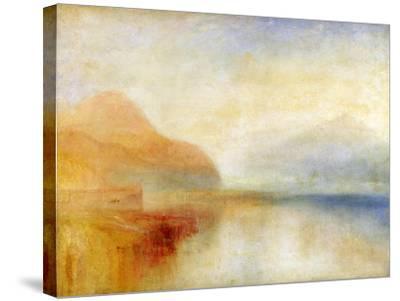 Inverary Pier, Loch Fyne, Morning, c.1840-50-J^ M^ W^ Turner-Stretched Canvas Print