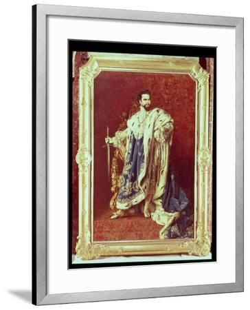 Ludwig II (1845-86) 1887-Gabriel Schachinger-Framed Giclee Print