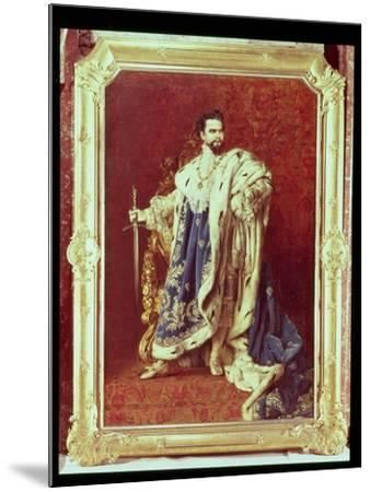 Ludwig II (1845-86) 1887-Gabriel Schachinger-Mounted Giclee Print
