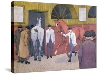 The Horse Mart-Robert Polhill Bevan-Stretched Canvas Print