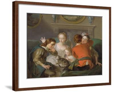 The Sense of Touch, c.1744-47-Philippe Mercier-Framed Giclee Print