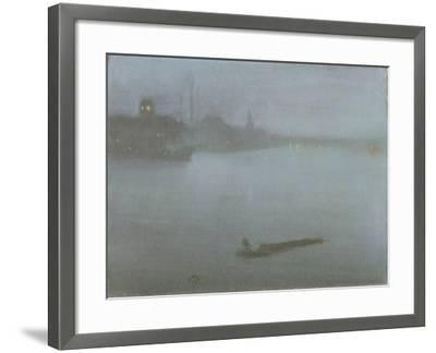 Thames - Nocturne in Blue and Silver, c.1872/8-James Abbott McNeill Whistler-Framed Giclee Print