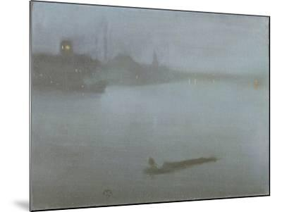 Thames - Nocturne in Blue and Silver, c.1872/8-James Abbott McNeill Whistler-Mounted Giclee Print