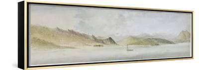 Lago Maggiore (W/C, Pen, Ink and Graphite on Paper)-Charles Gore-Framed Stretched Canvas Print