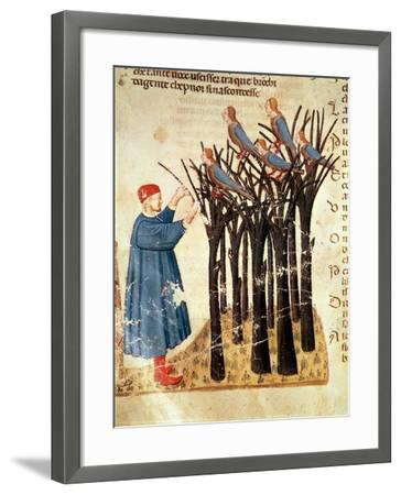 Dante and the Souls Transformed into Birds, from 'The Divine Comedy' by Dante Alighieri (1265-1321)-Italian-Framed Giclee Print