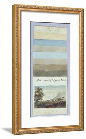 Colour Chart, from 'Hints to Form the Taste and Regulate Ye Judgement in Sketching Landscape'-Rev. William Gilpin-Framed Giclee Print