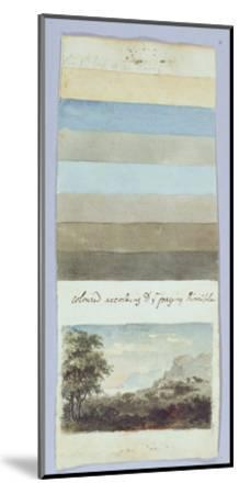 Colour Chart, from 'Hints to Form the Taste and Regulate Ye Judgement in Sketching Landscape'-Rev. William Gilpin-Mounted Giclee Print