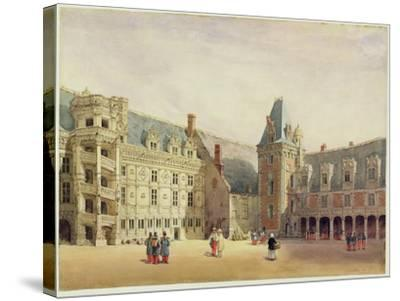 Le Chateau De Blois (W/C on Paper)-Thomas Shotter Boys-Stretched Canvas Print