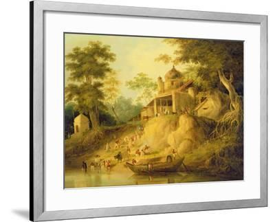 The Banks of the Ganges, c.1820-30-William Daniell-Framed Giclee Print