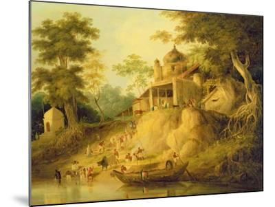 The Banks of the Ganges, c.1820-30-William Daniell-Mounted Giclee Print