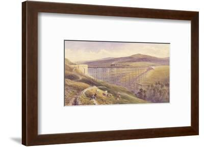 Belah Viaduct, 1869 (W/C and Gouache with Pen and Ink on Paper)-John Osborn Brown-Framed Premium Giclee Print