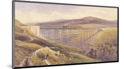 Belah Viaduct, 1869 (W/C and Gouache with Pen and Ink on Paper)-John Osborn Brown-Mounted Premium Giclee Print