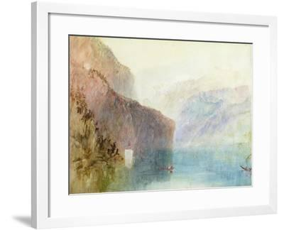 Tell's Chapel, Lake Lucerne, C.1841 (W/C with Pen on Paper)-J^ M^ W^ Turner-Framed Giclee Print